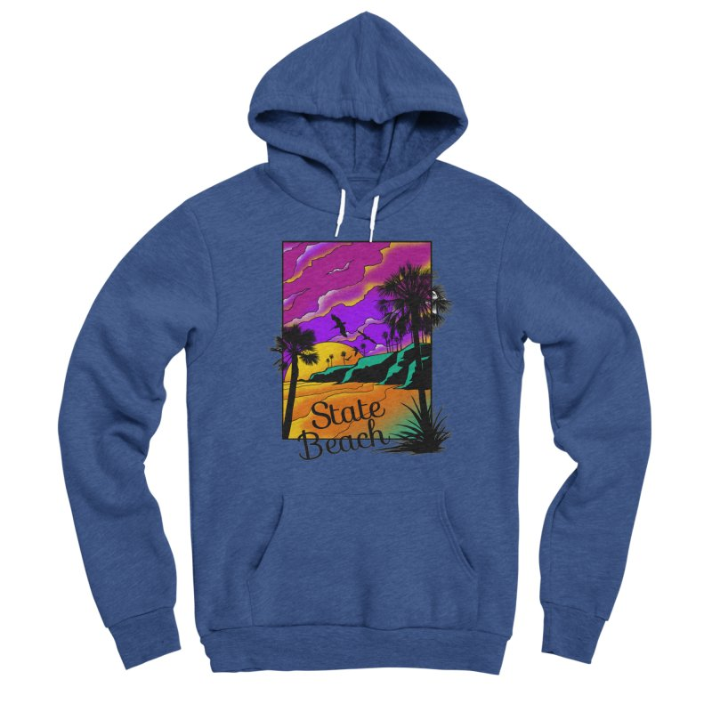 sunset and beach Women's Sponge Fleece Pullover Hoody by hd's Artist Shop