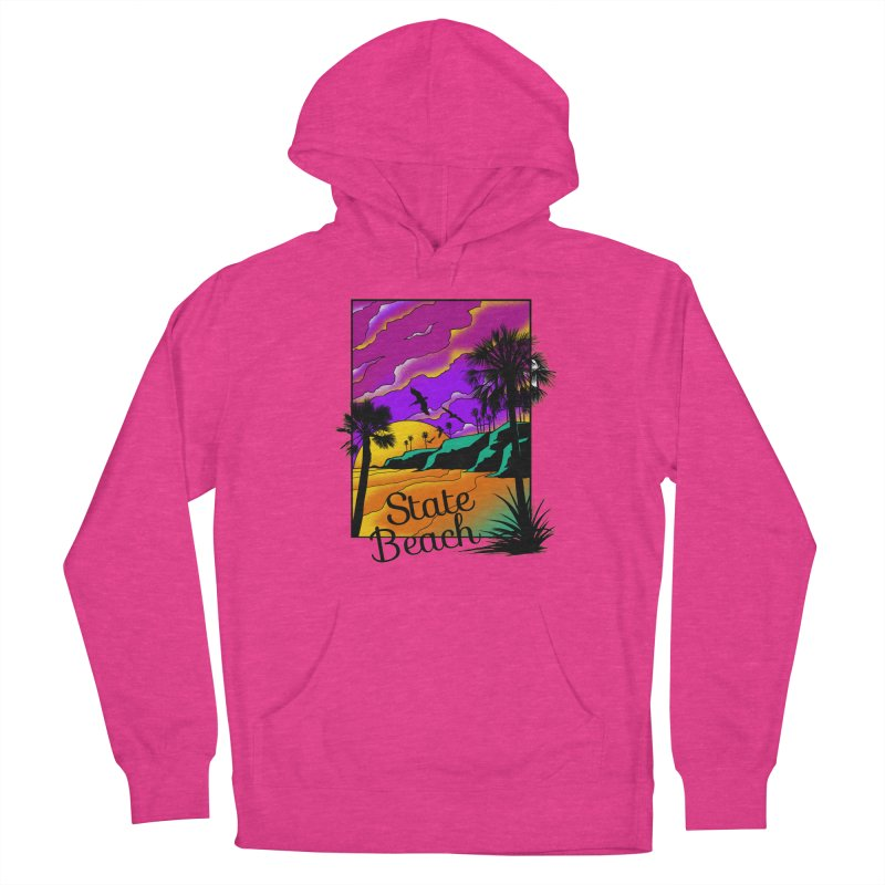sunset and beach Women's French Terry Pullover Hoody by hd's Artist Shop