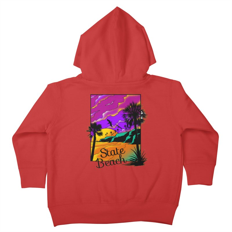 sunset and beach Kids Toddler Zip-Up Hoody by hd's Artist Shop