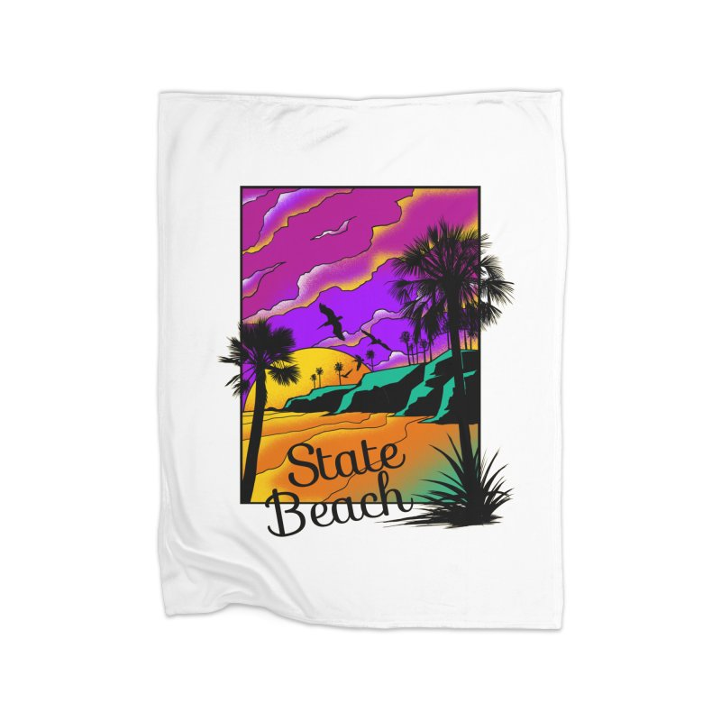 sunset and beach Home Blanket by hd's Artist Shop