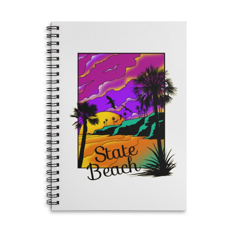 sunset and beach Accessories Notebook by hd's Artist Shop