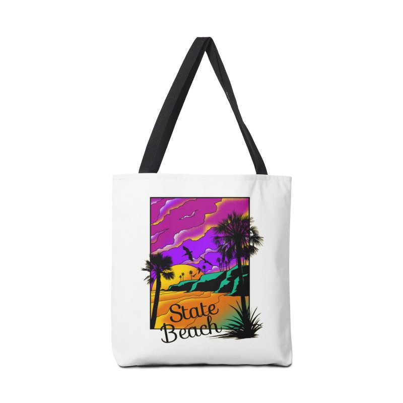 sunset and beach Accessories Tote Bag Bag by hd's Artist Shop