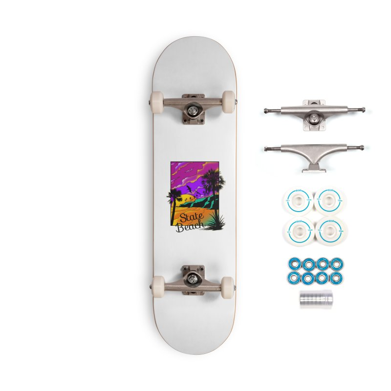 sunset and beach Accessories Skateboard by hd's Artist Shop