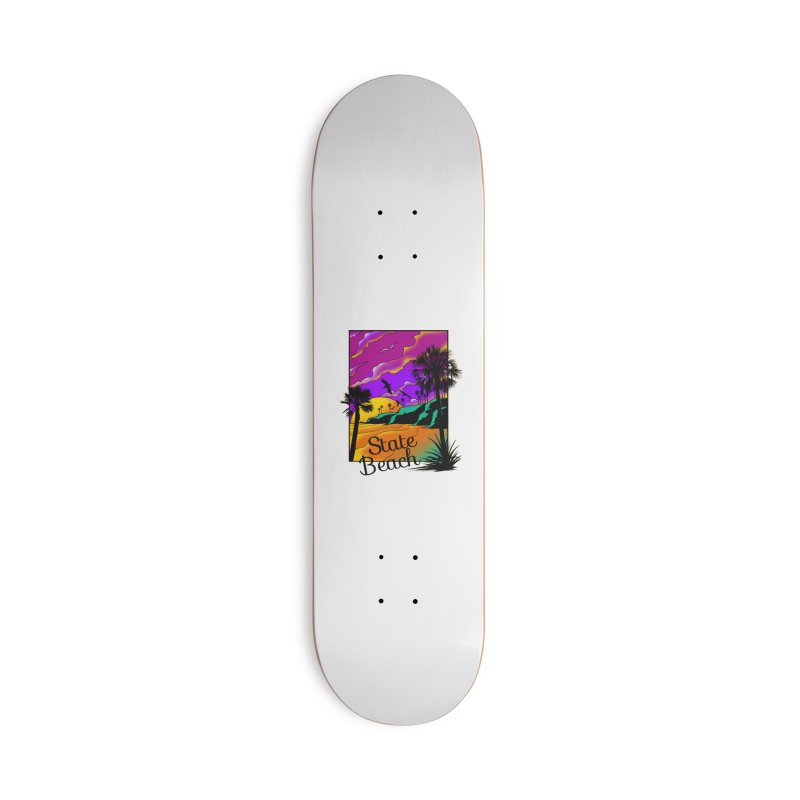 sunset and beach Accessories Deck Only Skateboard by hd's Artist Shop