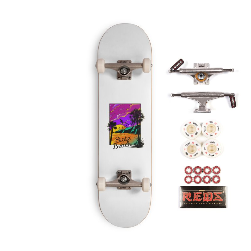 sunset and beach Accessories Complete - Pro Skateboard by hd's Artist Shop