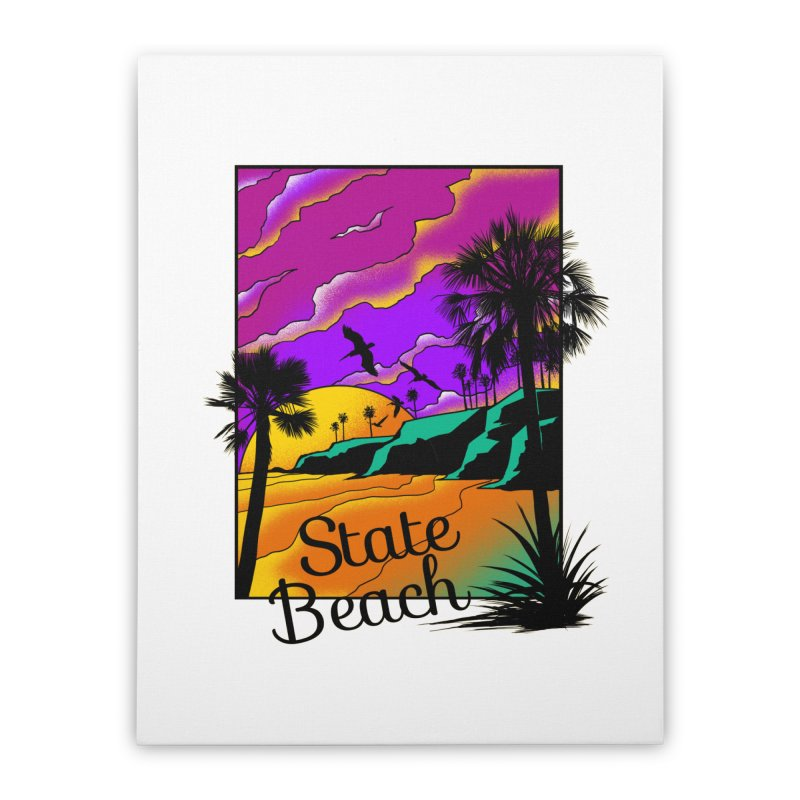 sunset and beach Home Stretched Canvas by hd's Artist Shop
