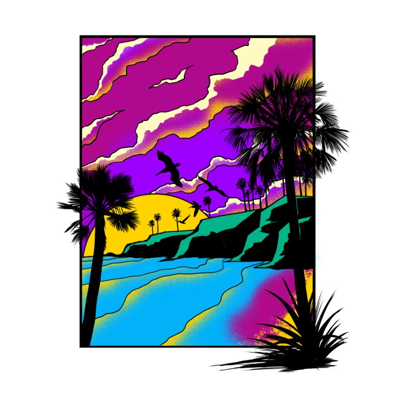 sunset and beach Men's Tank by hd's Artist Shop