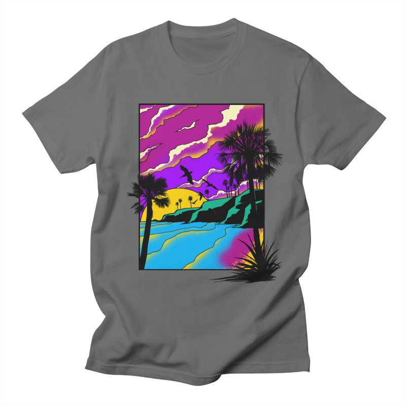 sunset and beach Men's T-Shirt by hd's Artist Shop