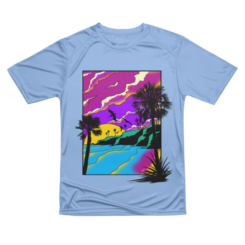 sunset and beach Men's T-Shirt by hd's Artist Shop