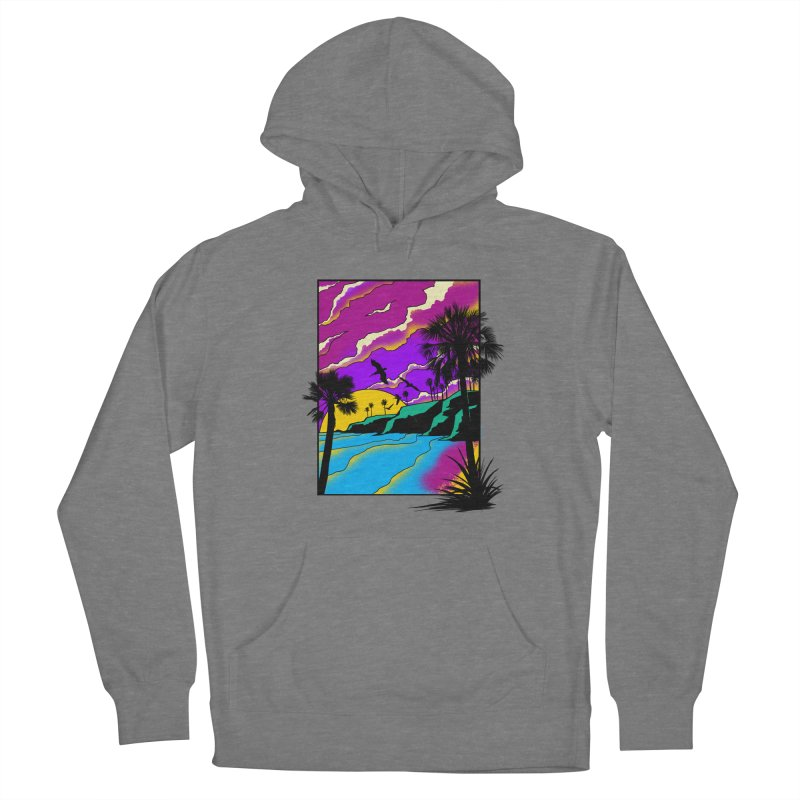 sunset and beach Women's Pullover Hoody by hd's Artist Shop