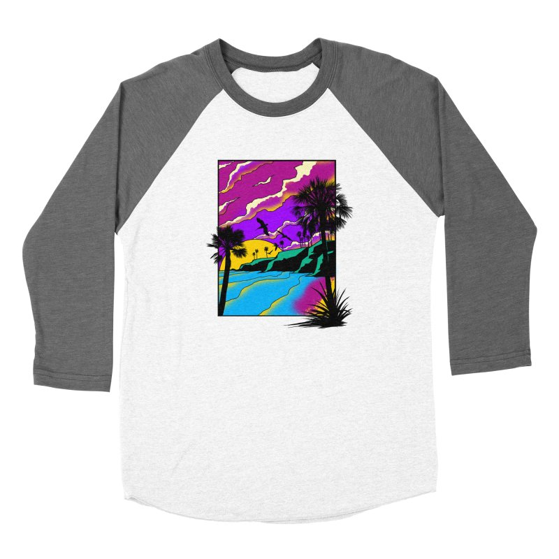 sunset and beach Women's Longsleeve T-Shirt by hd's Artist Shop