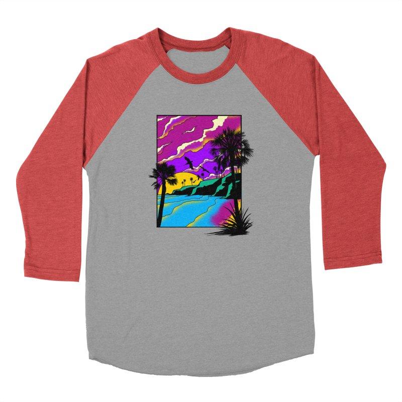 sunset and beach Men's Longsleeve T-Shirt by hd's Artist Shop