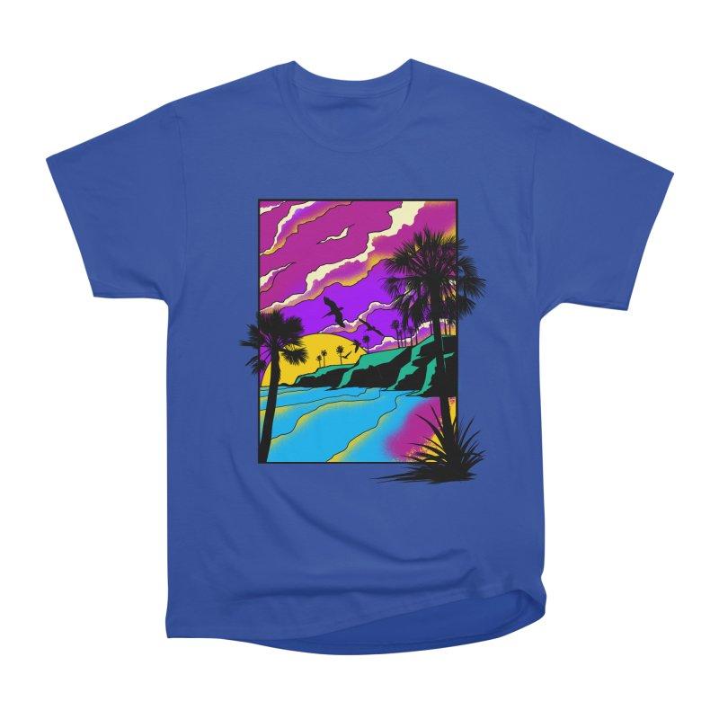 sunset and beach Men's Heavyweight T-Shirt by hd's Artist Shop