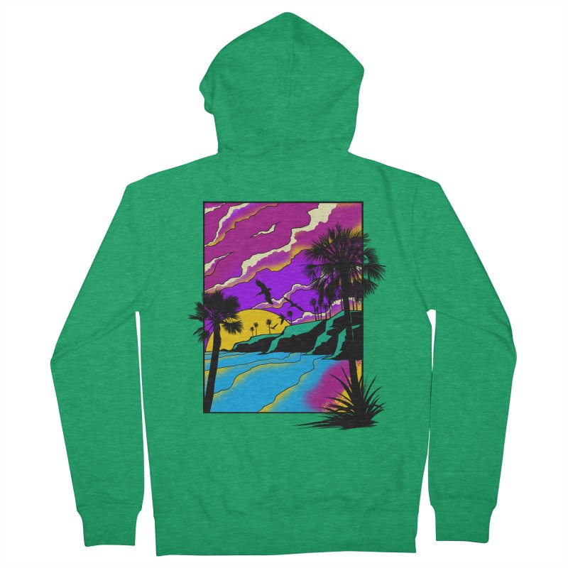 sunset and beach Women's Zip-Up Hoody by hd's Artist Shop