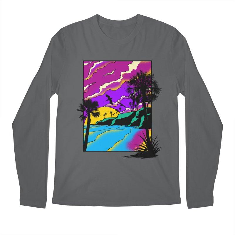 sunset and beach Men's Regular Longsleeve T-Shirt by hd's Artist Shop