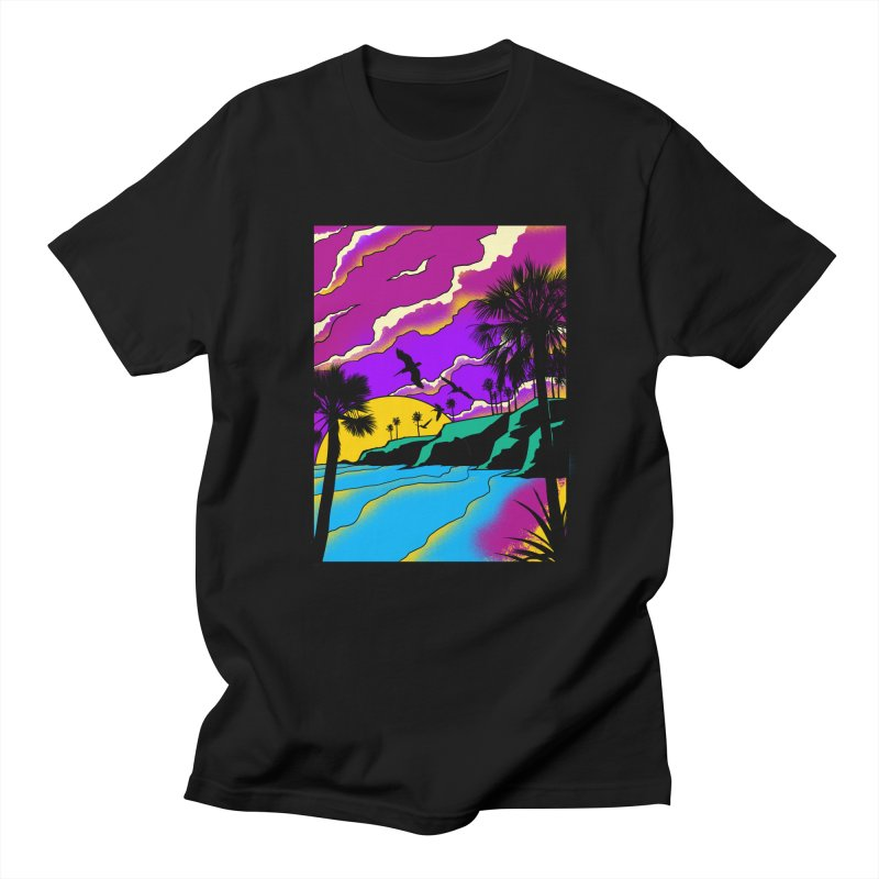sunset and beach Women's Regular Unisex T-Shirt by hd's Artist Shop