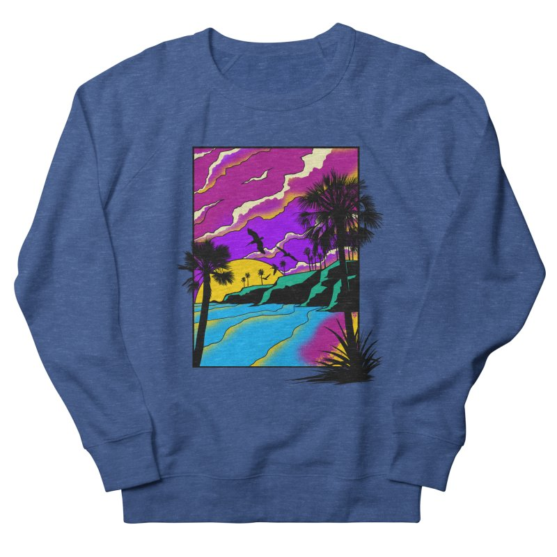 sunset and beach Men's Sweatshirt by hd's Artist Shop