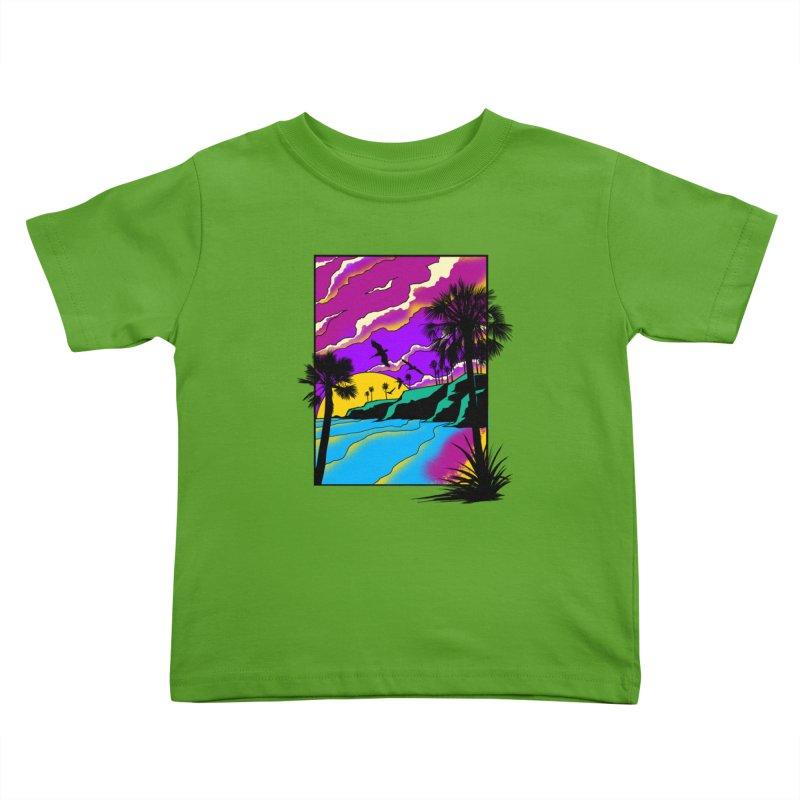 sunset and beach Kids Toddler T-Shirt by hd's Artist Shop