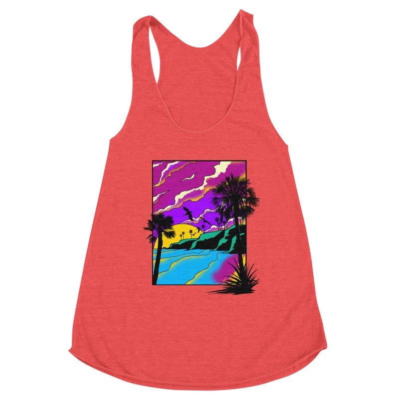 sunset and beach Women's Tank by hd's Artist Shop
