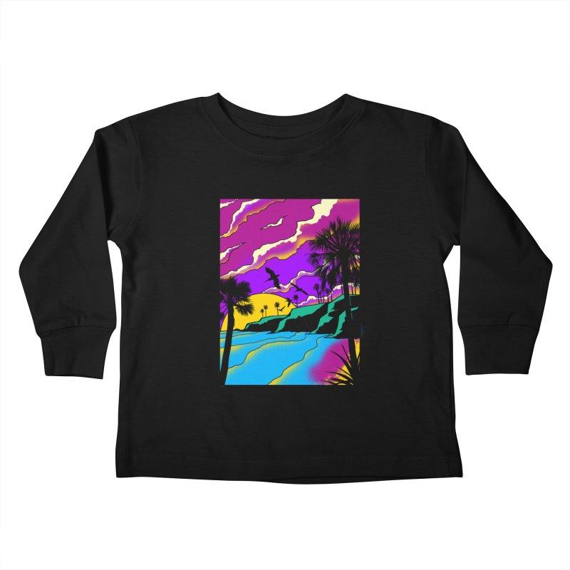 sunset and beach Kids Toddler Longsleeve T-Shirt by hd's Artist Shop