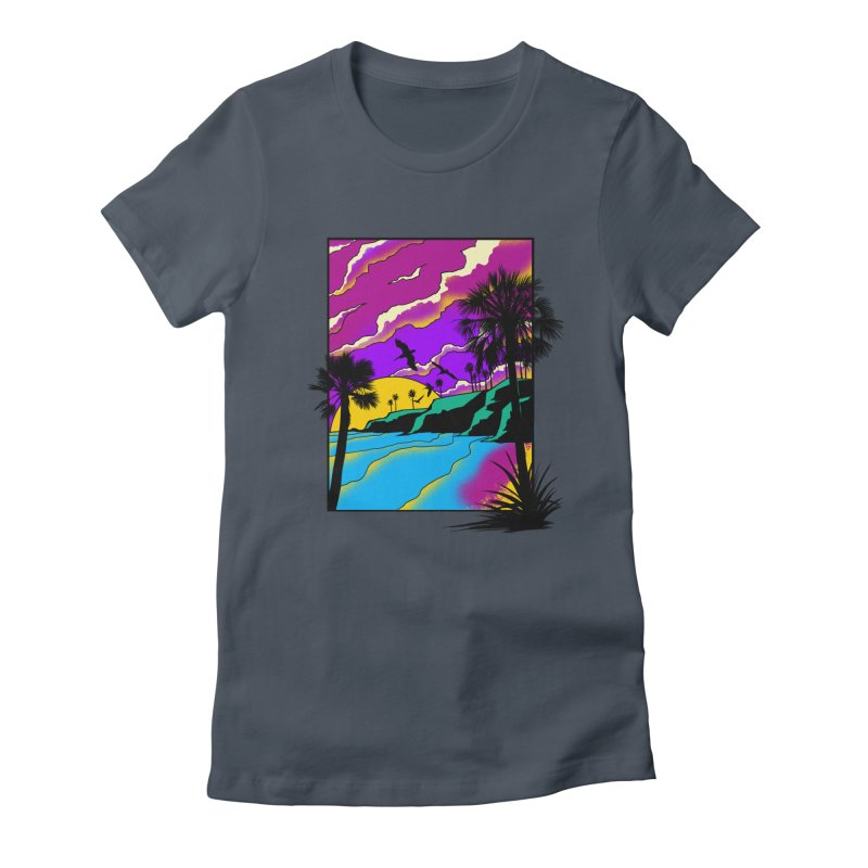 sunset and beach Women's T-Shirt by hd's Artist Shop