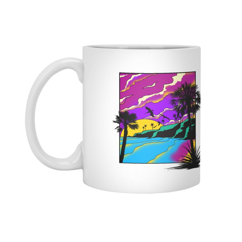 sunset and beach Accessories Mug by hd's Artist Shop