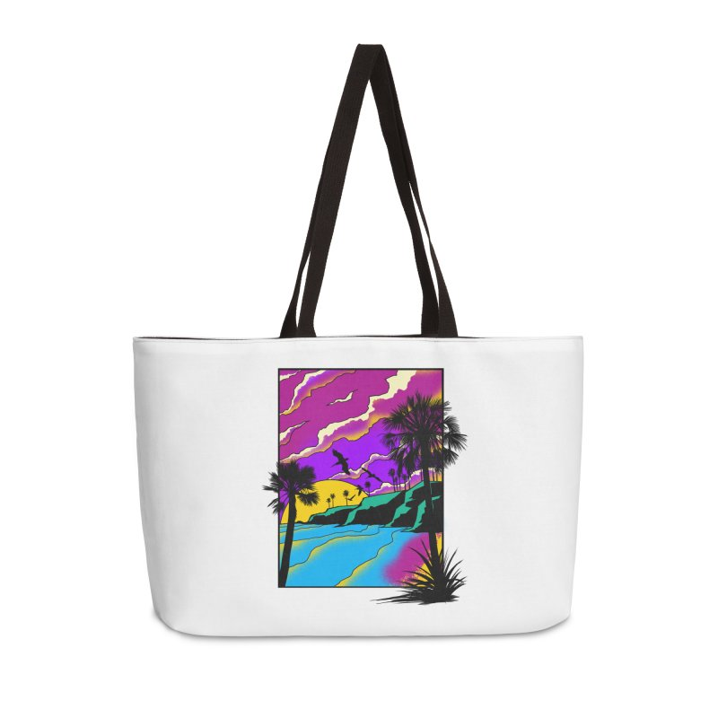 sunset and beach Accessories Weekender Bag Bag by hd's Artist Shop