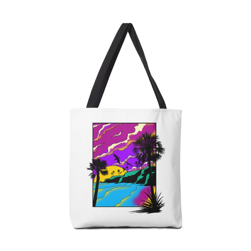 sunset and beach Accessories Bag by hd's Artist Shop