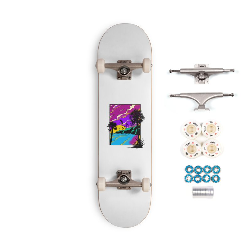 sunset and beach Accessories Complete - Premium Skateboard by hd's Artist Shop