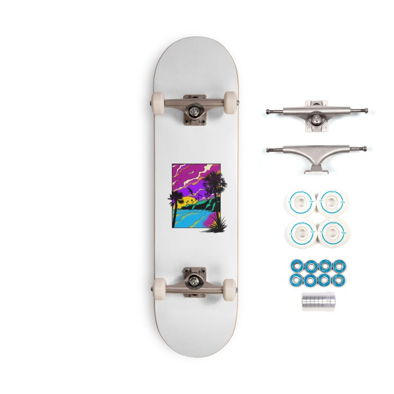 sunset and beach Accessories Complete - Basic Skateboard by hd's Artist Shop