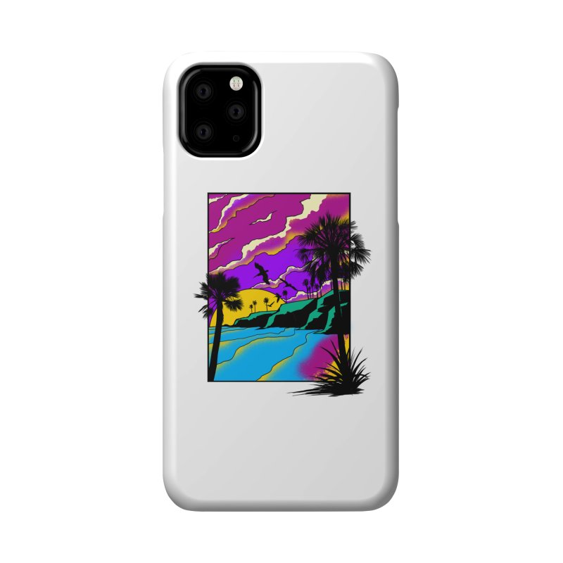 sunset and beach Accessories Phone Case by hd's Artist Shop