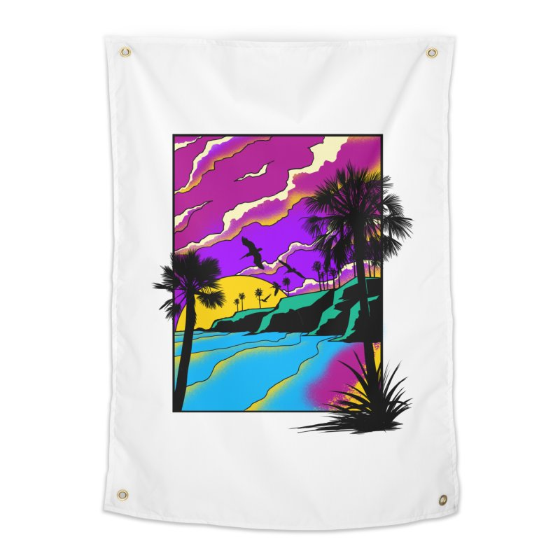 sunset and beach Home Tapestry by hd's Artist Shop