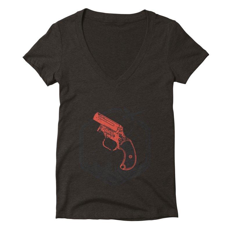 flare gun unknown Women's Deep V-Neck V-Neck by hd's Artist Shop