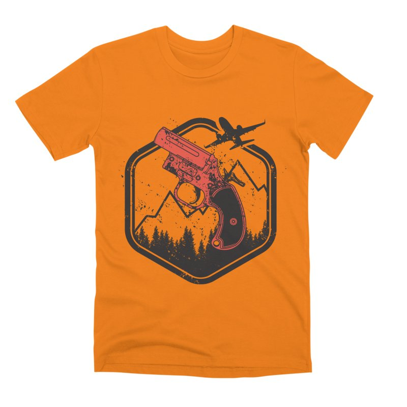 flare gun unknown Men's T-Shirt by hd's Artist Shop