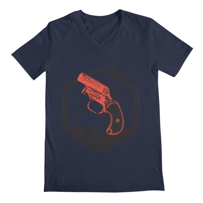flare gun unknown Men's V-Neck by hd's Artist Shop
