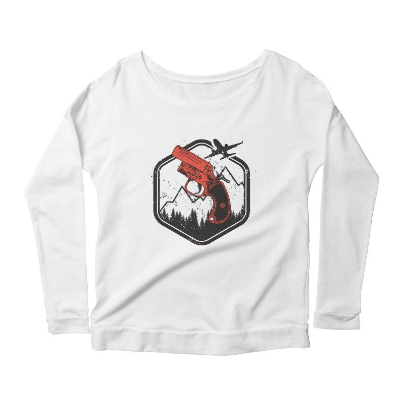 flare gun unknown Women's Scoop Neck Longsleeve T-Shirt by hd's Artist Shop
