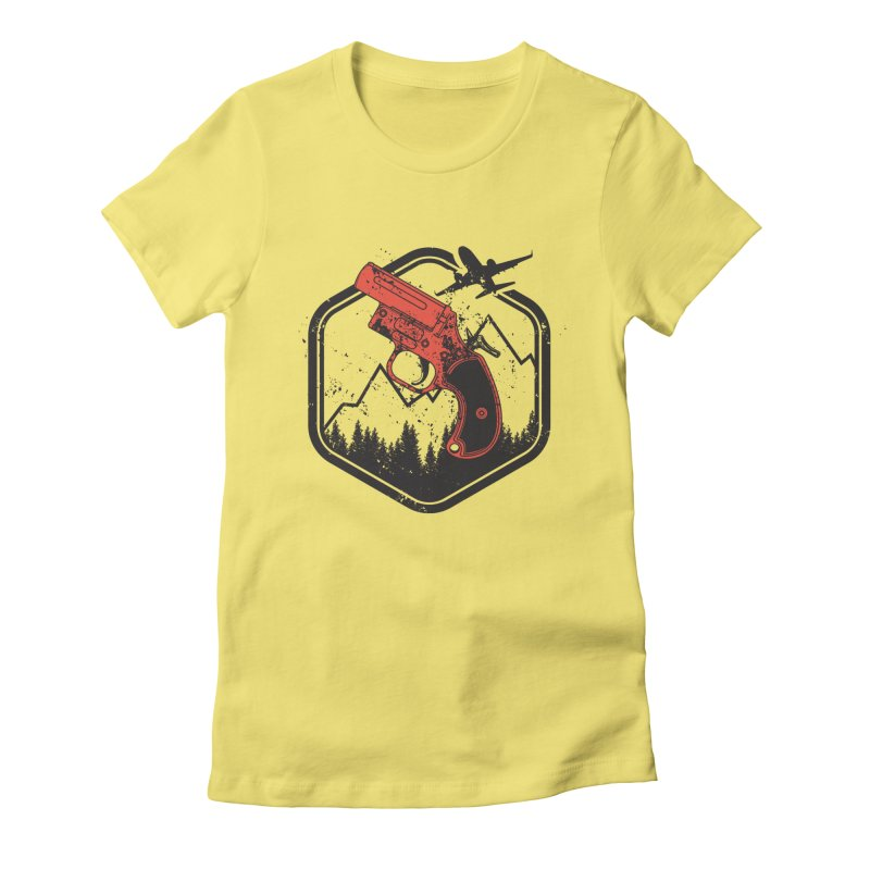 flare gun unknown Women's Fitted T-Shirt by hd's Artist Shop