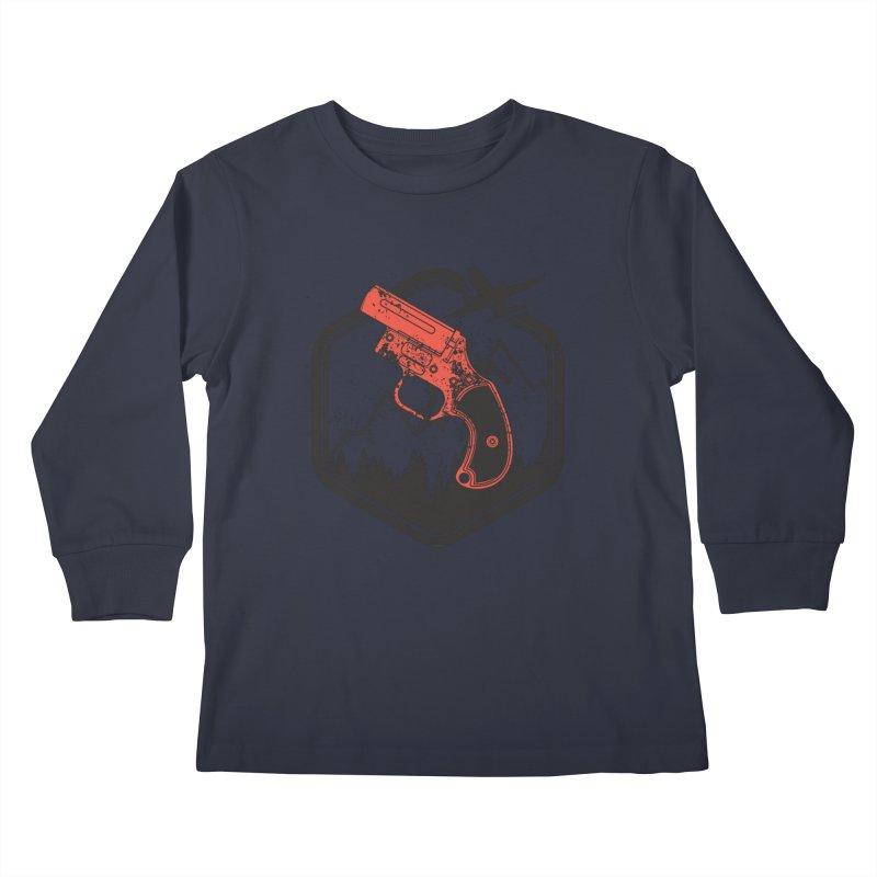 flare gun unknown Kids Longsleeve T-Shirt by hd's Artist Shop