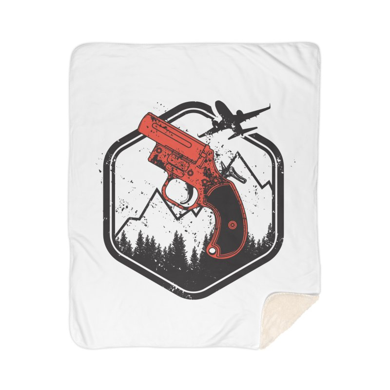 flare gun unknown Home Sherpa Blanket Blanket by hd's Artist Shop