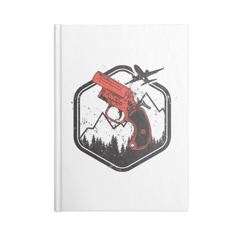 flare gun unknown Accessories Lined Journal Notebook by hd's Artist Shop