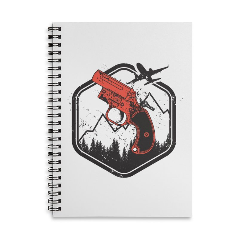 flare gun unknown Accessories Lined Spiral Notebook by hd's Artist Shop