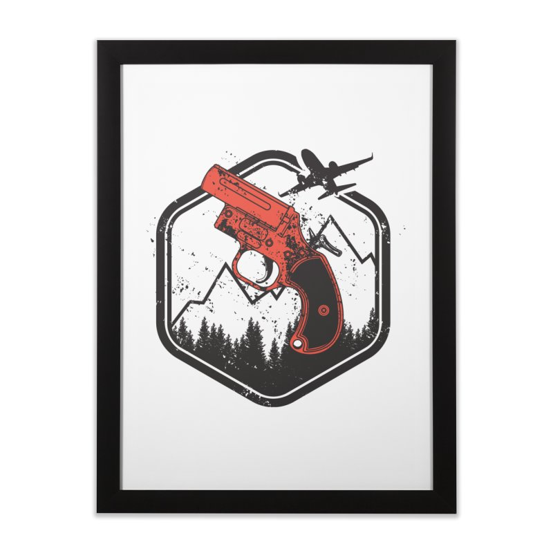 flare gun unknown Home Framed Fine Art Print by hd's Artist Shop