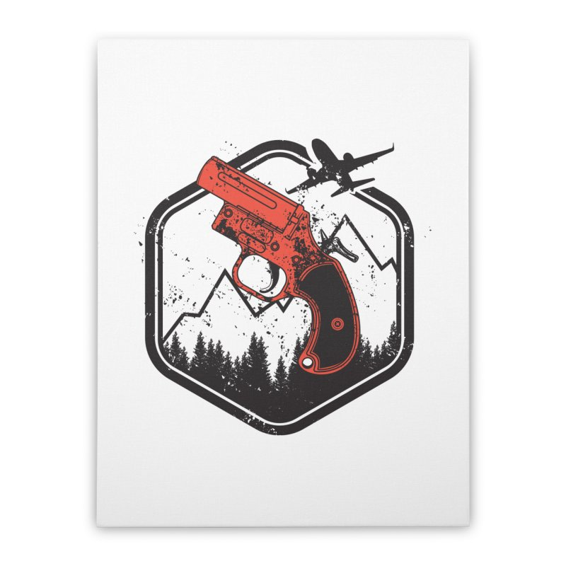 flare gun unknown Home Stretched Canvas by hd's Artist Shop