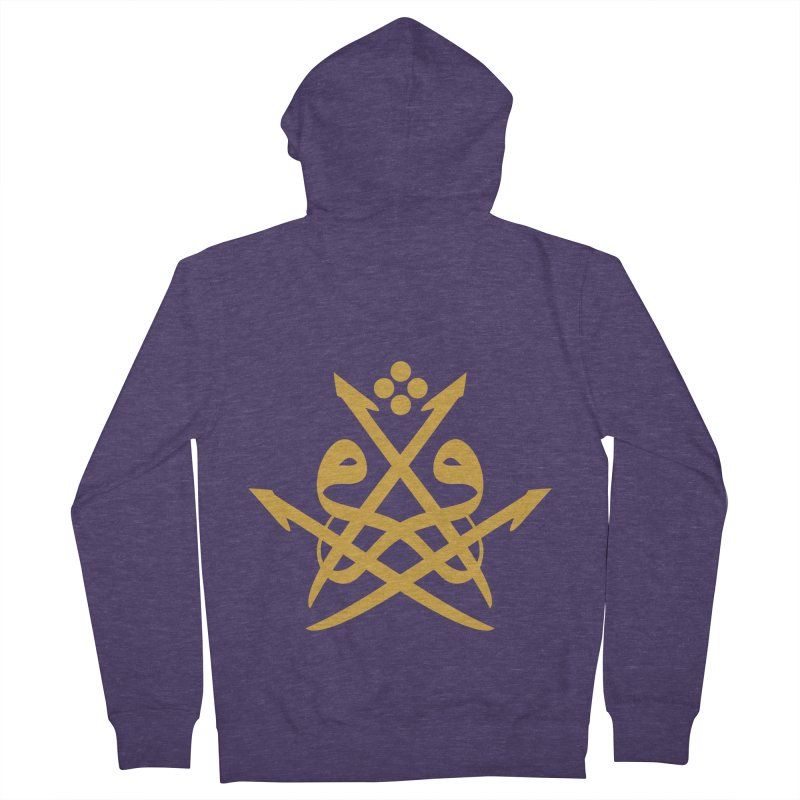 Read or Iqra Style 2 Men's French Terry Zip-Up Hoody by hd's Artist Shop