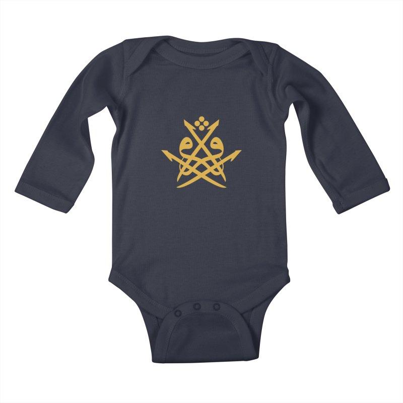Read or Iqra Style 2 Kids Baby Longsleeve Bodysuit by hd's Artist Shop
