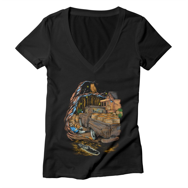 night after night Women's V-Neck by hd's Artist Shop