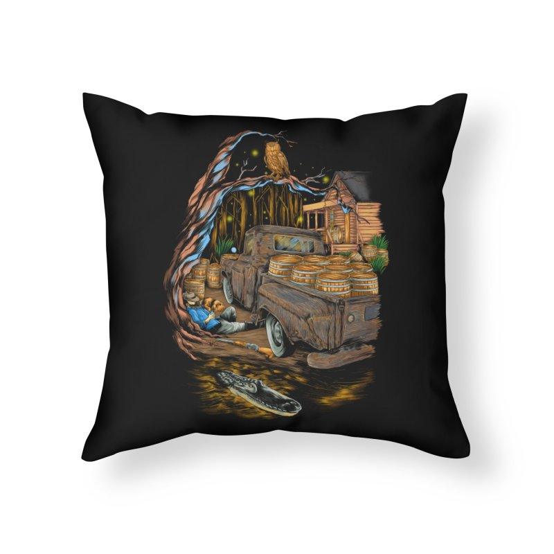 night after night Home Throw Pillow by hd's Artist Shop