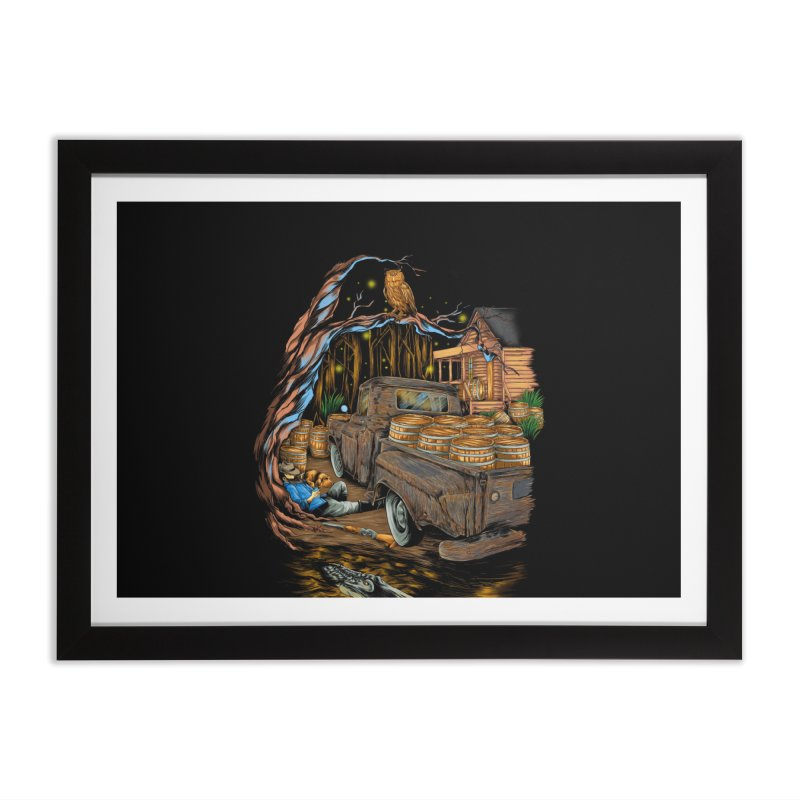 night after night Home Framed Fine Art Print by hd's Artist Shop