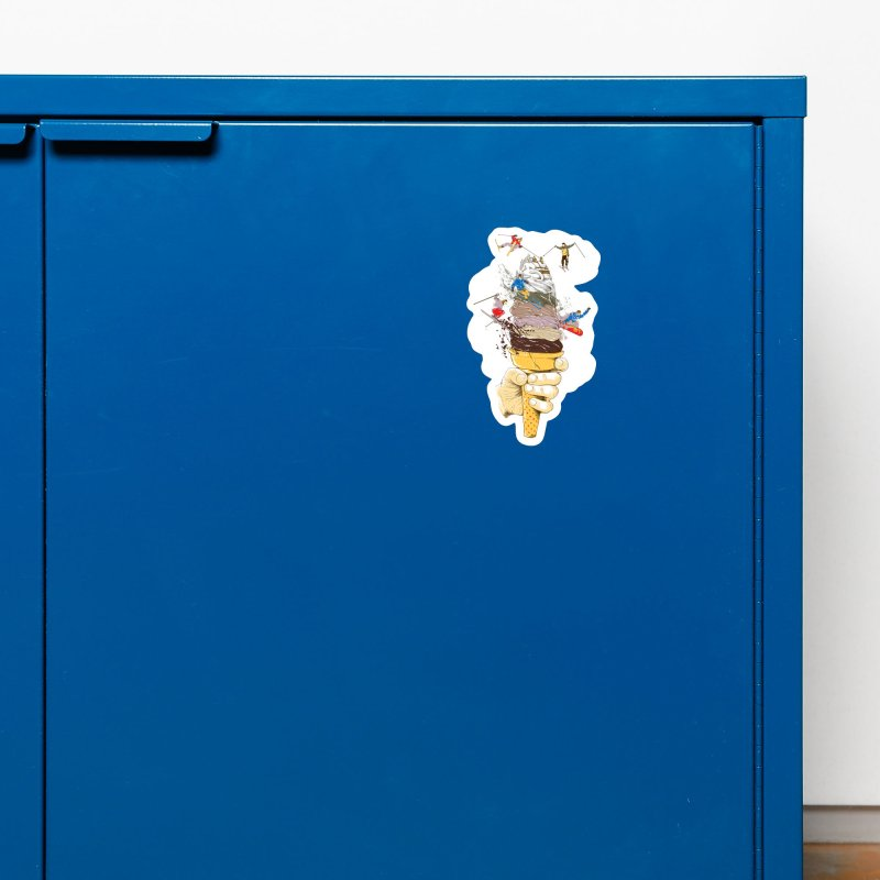 ice cream skate Accessories Magnet by hd's Artist Shop