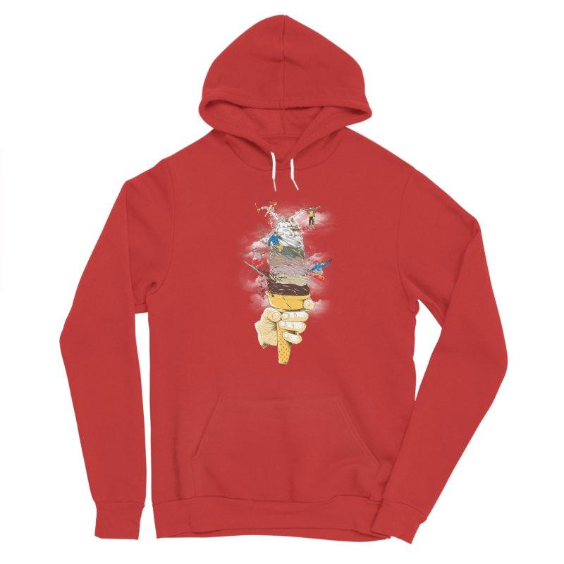ice cream skate Men's Pullover Hoody by hd's Artist Shop